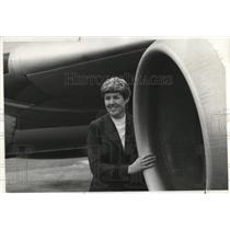 1975 Press Photo Emily Howell, first woman pilot on US scheduled carrier