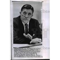1961 Wire Photo N. E. Halaby talking to reporters in Washington news conference