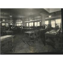 1934 Press Photo Newspaper SR Composing Room - spx12435