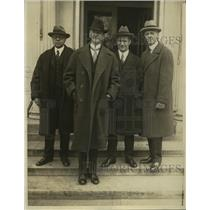 1926 Pres Photo Official Leave White House After Discuss Labor Dispute with Pres