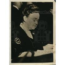 1932 Press Photo Mary Burke East, Stenographer at AFL Convention, Cincinnati