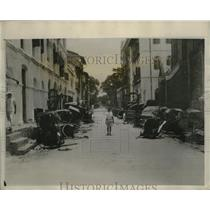 1931 Press Photo Burma Riot Damage - nef54100