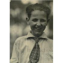 1921 Press Photo Billy Kane One of Eddie Kane's Children - nef54423