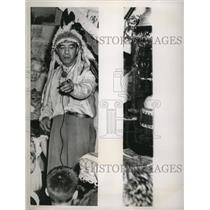 1951 Press Photo Medicine man at Frankie's Market - nef54547
