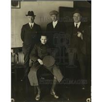 1925 Press Photo Inspector Fusey, James Palman, Pat Sweeney, with George Cordy