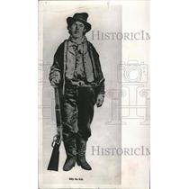 1976 Press Photo Billy the kid American Old West gunfighter killed 21 men