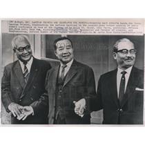 1964 Press Photo Three Laotian Princes Pose Before Opening of Their Summit Conf