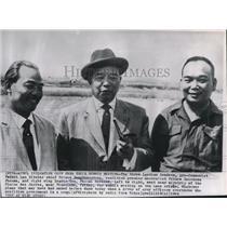 1964 Press Photo Three Laotian Leaders Meet at Airstrip of the Plaine des Jarres