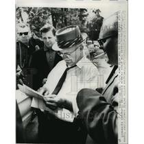 1963 Press Photo Birmingham Public Safety Commissioner Eugene Connor press conf.