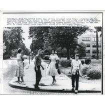 1959 Press Photo Central HS Carlotta Walls at Little Rock desegragation