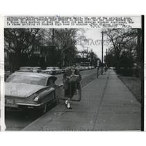 1960 Press Photo Carlotta Walls Central HS Little Rock de segragation girl