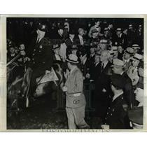 1938 Press Photo Norman Thomas Socialist leader at Newark NJ demonstration