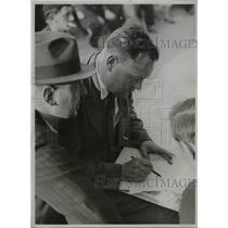 1935 Press Photo Maurice Thorez French Communist Party leader in Paris