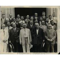1927 Press Photo Labor leaders Luis Morones, William Green, AFL Secy F Morrison