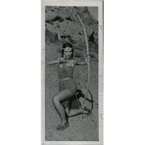 1949 Press Photo Betty Heflin representing the Sunburst Tribe of Indians