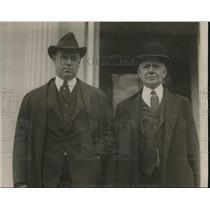 1931 Press Photo WL McManimen Deputy Pres Brotherhood of Railroad & P McNamara