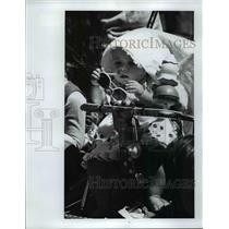 1977 Press Photo Rena Sweeney who was watching her first parade - orb92292