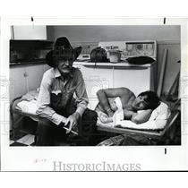 1977 Press Photo Duff Severe and J.C. Trujillo attends the Pendleton Round-Up
