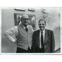 1974 Press Photo George Speidel and William C Wright of the Zoological Society