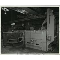 1982 Press Photo Blasting machines introduced by Blastalloy Corp. of Waukesha