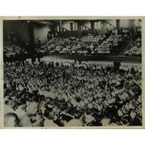 1933 Press Photo Crowd of 6,000 At William Green's Labor Day Union Speech