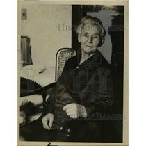 1934 Press Photo Mrs. Anna Gillette a Swiss Pioneer - nee35300