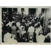 1932 Press Photo Milo Reno Addressing Group Organizing Oklahoma City Farm Strike