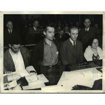 1934 Press Photo Alleged Communists in Court, San Francisco - nef41970