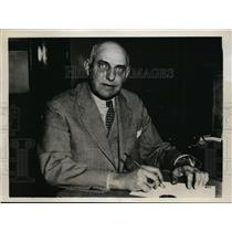 1933 Press Photo Warden Kirk Prather of Kansas State Penitentiary - nef47334