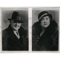 1933 Press Photo Warden Kirk Prather of Kansas State Penitentiary & Wife
