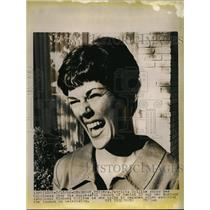 1966 Press Photo Patricia Collins, Wife of Astronaut After Gemini 10 Launch