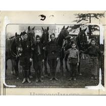 1930 Press Photo Junior Troop Equestrium Officers - nef49515