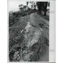1974 Press Photo Erosion Along Lake Michigan Shoreline Near Bradford Beach