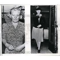 1943 Press Photo Countess Von Moltke and Mrs,Emma LEonhardt seized in spy ring