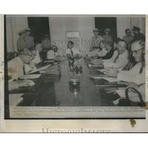 1952 Press Photo Fulgencio Batista During First Palace Conference, Havana, Cuba