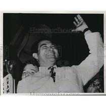 1952 Press Photo Gen.Fulgencio Batista addressed cheering crowd at Havana Cuba