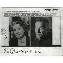 1966 Press Photo Nelly Sachs, Samuel J. Agnon, Winners Nobel Literature Prize