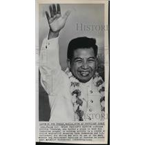 1965 Press Photo Prince Norodom Sihanouk Cambodian Chief of State - nef56115