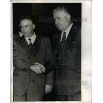 1970 Press Photo Socialist Loris Fortuna, Antonio Baslini in Rome Italy
