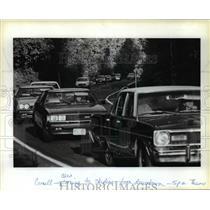 1983 Press Photo Traffic on Northwest Cornell Road  - orc06225