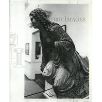 1977 Press Photo Figurehead from 19th century vessel at Maritime Museum