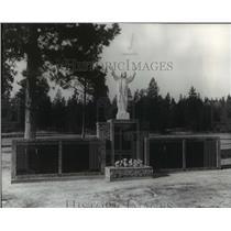 1978 Press Photo Green Wood Memorial Terrace in Spokane adds new columbarium