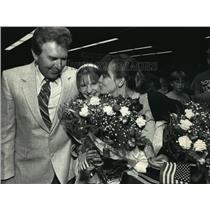 1987 Press Photo Thomas, Judith, Sherry Lynn Biedrzycki At Mitchell Airport