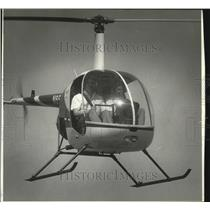 1985 Press Photo Helicopter flies over Oregon - oro08443
