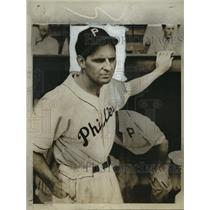 1945 Press Photo Ben Chapman manager of Philadelphia Phillies - lfx01755