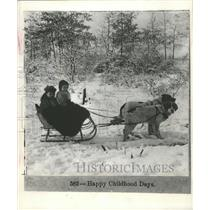 "1880 Press Photo Copy of B.L. Singley's ""Happy Childhood Days"" Photograph"
