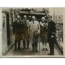1928 Press Photo Monsieur Paul Claudel French Ambassador to US & Daughter