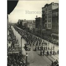 1916 Press Photo Memorial Day Preparedness Parade on Riverside Ave - spx14404