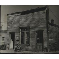 1953 Press Photo Hangman's House in Virginia City, Montana - spx15784