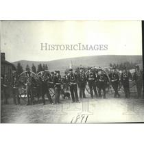 1891 Press Photo Missoula Hose Co No.1 firemen pictured in 1891 - spx15816